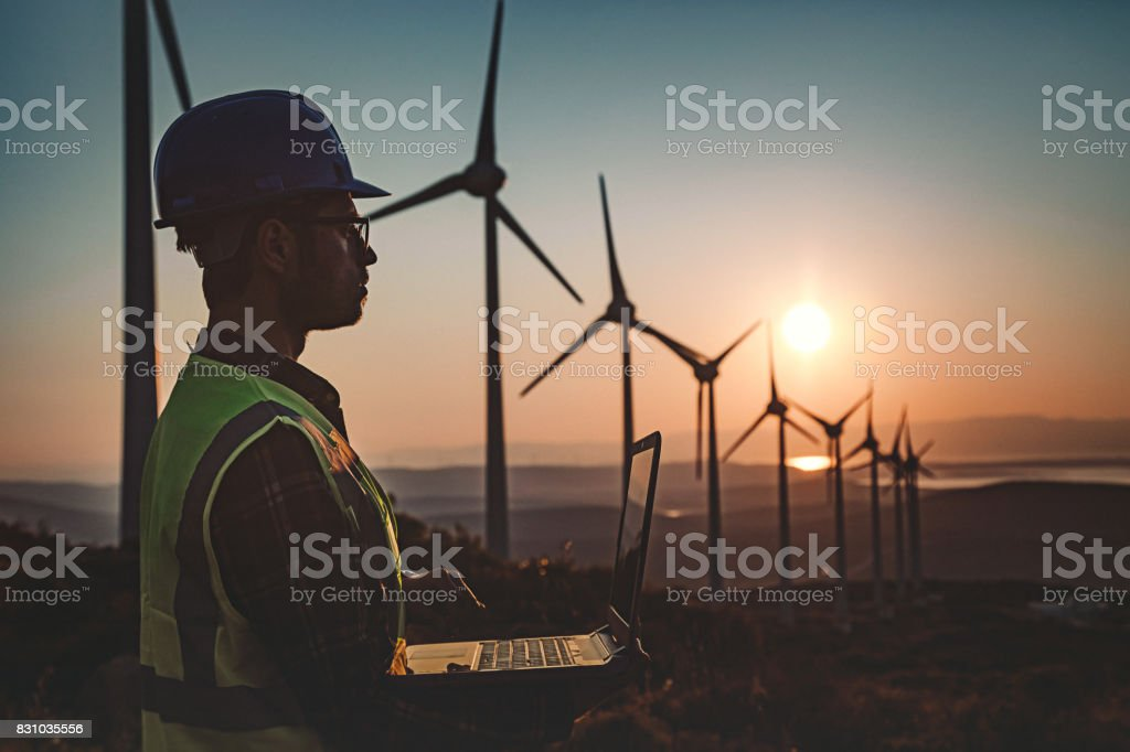 Renewable Energy Systems Engineering stock photo
