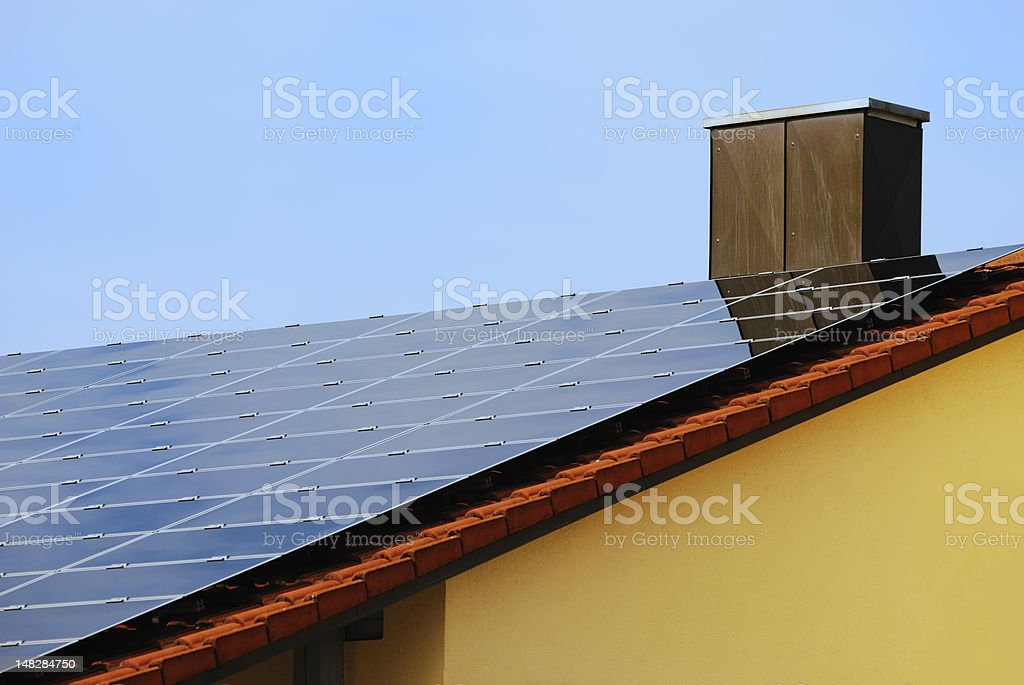 Renewable Energy With Photovoltaic royalty-free stock photo