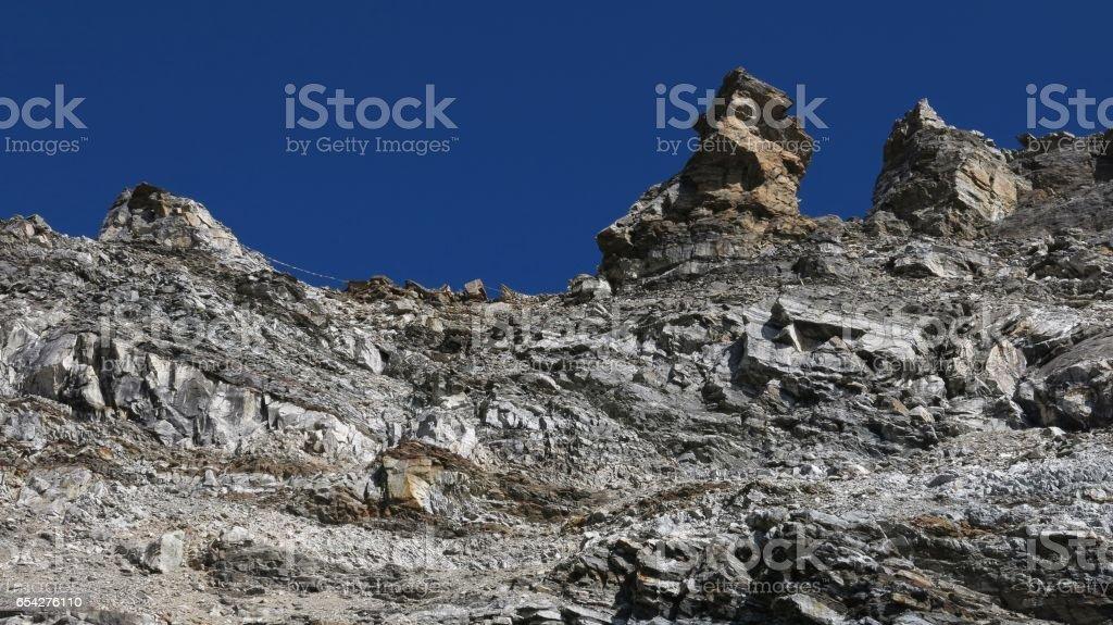 Renjo La mountain pass stock photo
