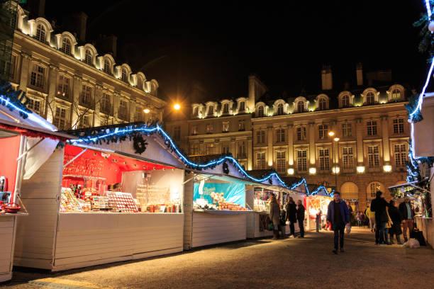 Rennes Christmas Market stock photo