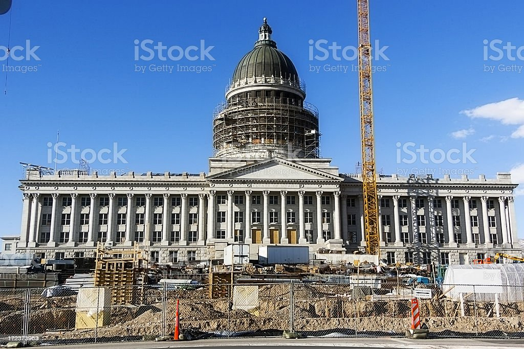 Rennovating Government Wide Angle royalty-free stock photo