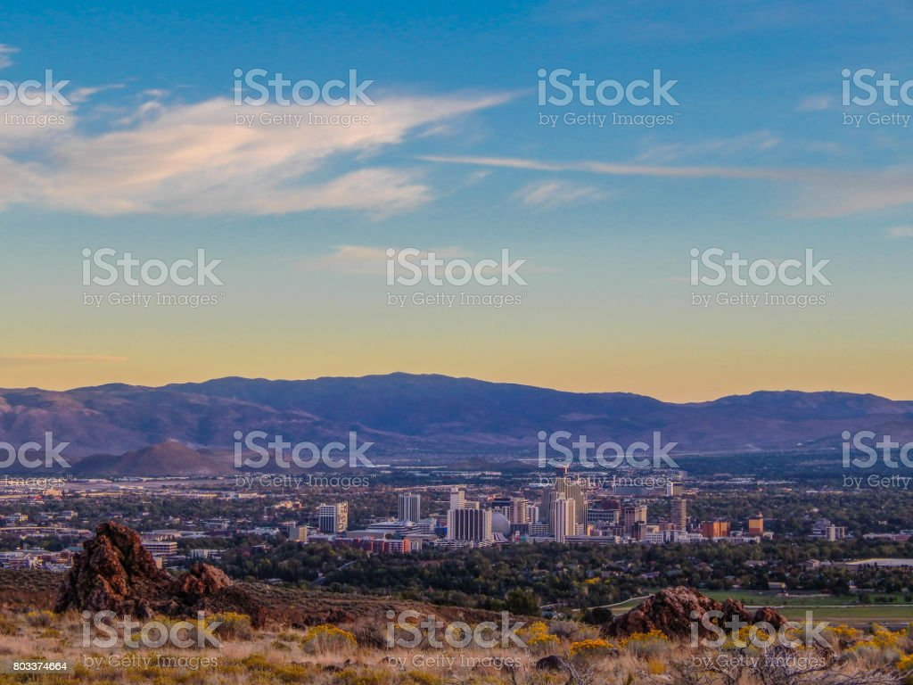 Reno Skyline stock photo