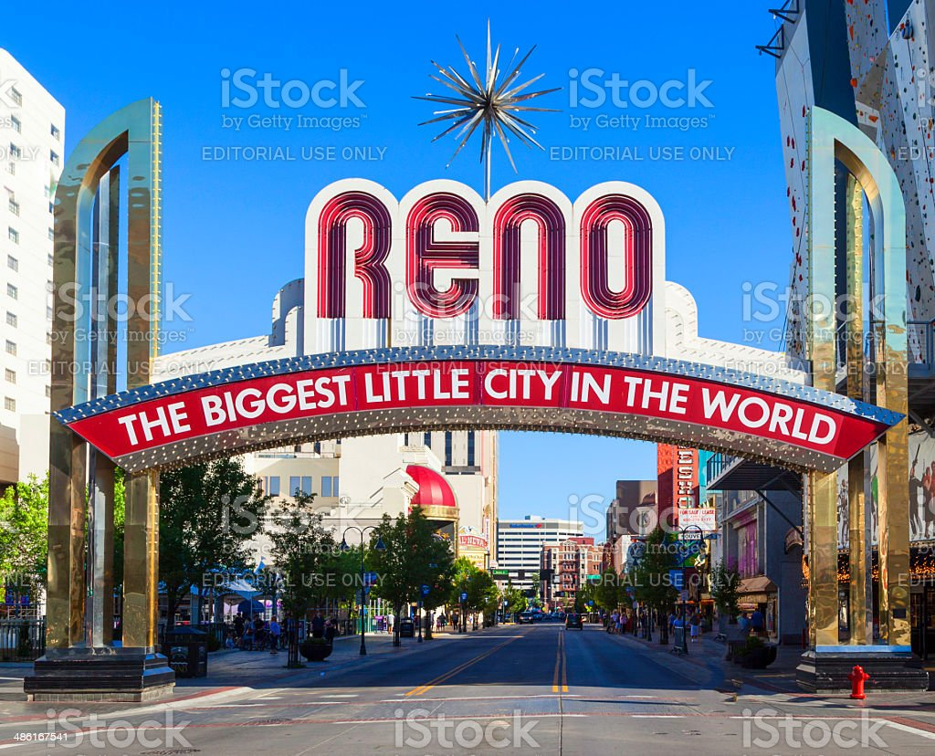 Reno The Biggest Little City in the World. stock photo