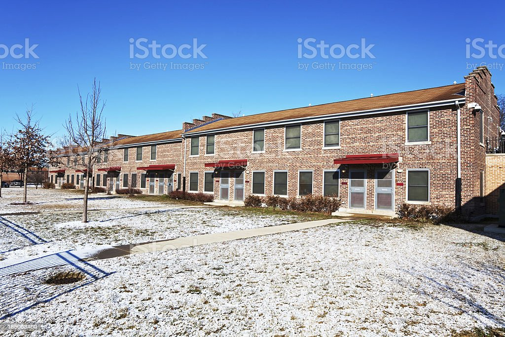 Renovated houses in Atgeld Gardens, Riverdale, Chicago royalty-free stock photo