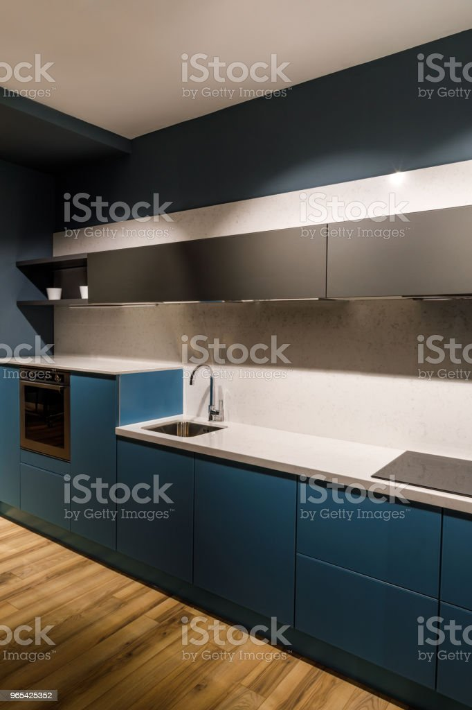 Renovated kitchen interior with stylish details zbiór zdjęć royalty-free