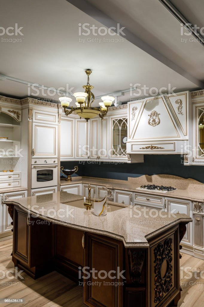 Renovated kitchen interior with stylish details royalty-free stock photo