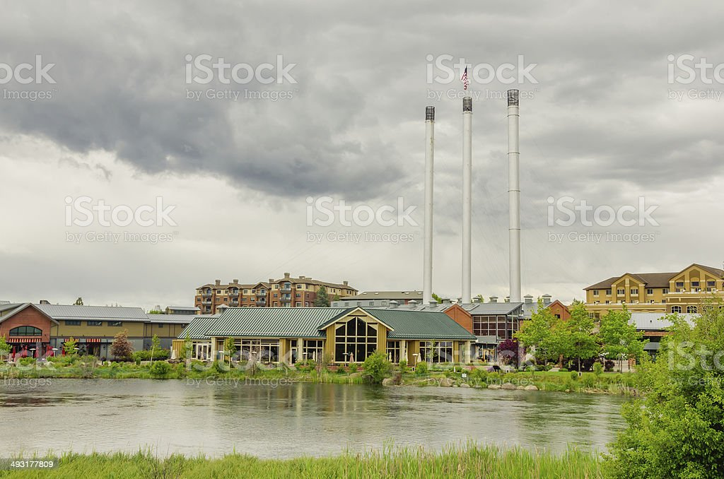 Renovated Old Industrial Plant stock photo