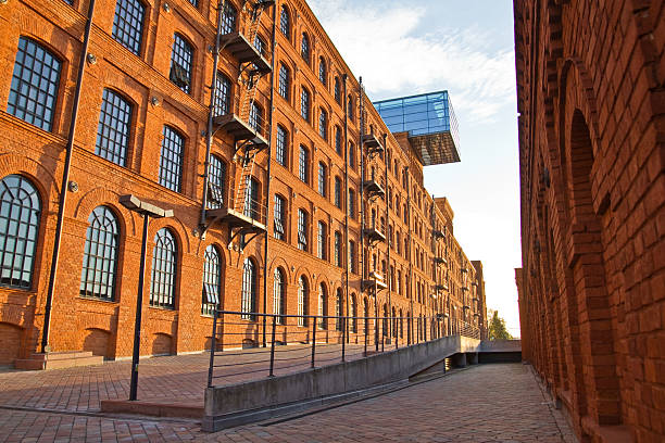 Renovated red-brick factory