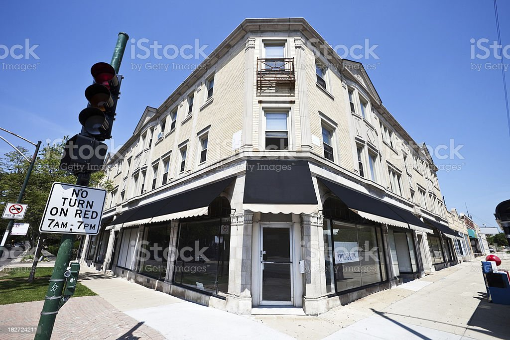 Renovated Vintage Shops in West Ridge, Chicago royalty-free stock photo