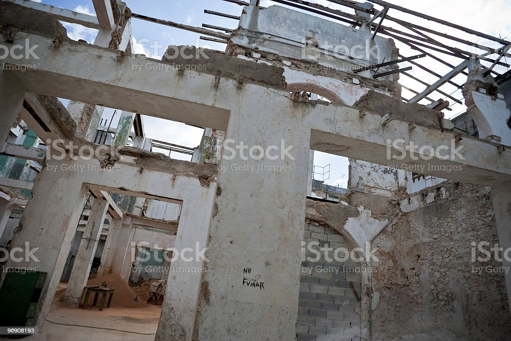 renovating a house in La Habana royalty-free stock photo