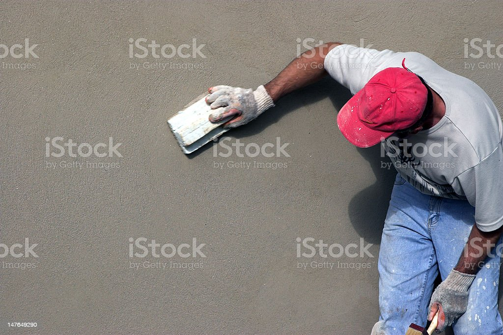 Renovating on old wall stock photo