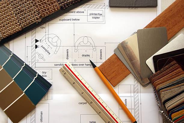 renoviert - teppichmaterial stock-fotos und bilder