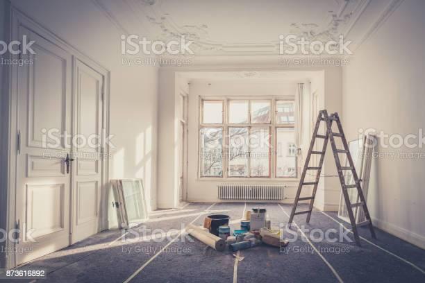 Renovatie Appartement Tijdens Restauratie Huis Verbetering Stockfoto en meer beelden van Abstract