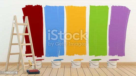 istock Renovation colors - repair concept 1149003718