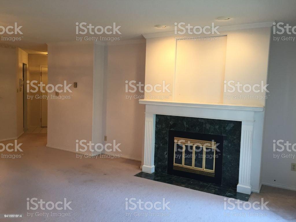 Renovation in a condo apartment. stock photo