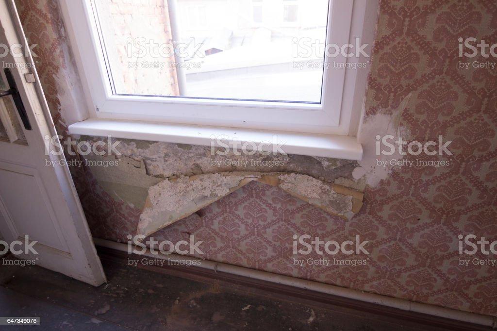 renovation needed stock photo