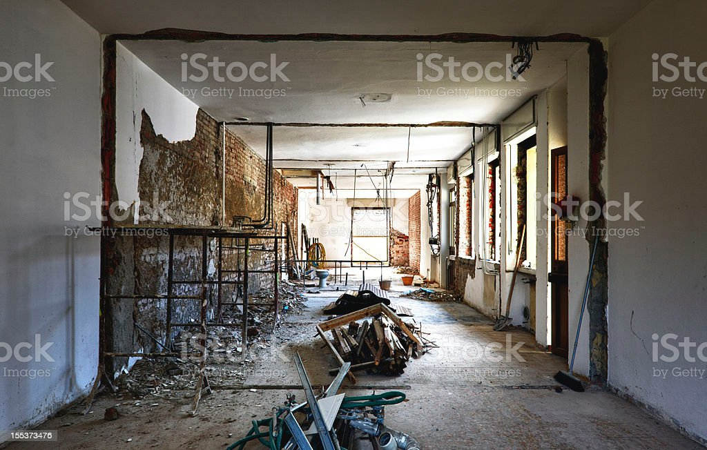 Renovation of an old house. Color Image royalty-free stock photo