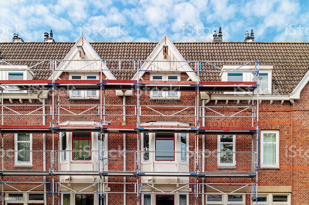 Renovation of Dutch apartment houses in Amsterdam – Foto