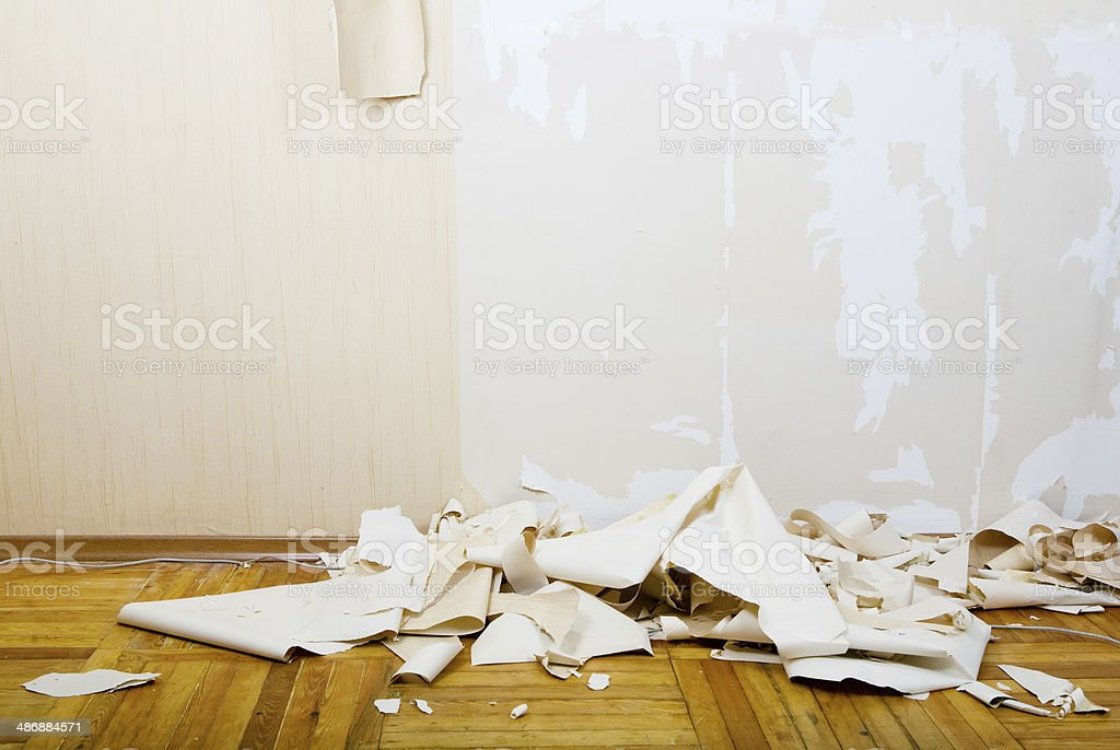 renovation of house interior stock photo