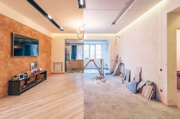 реконструкция студийного зала - понятия и темы стоковые фото и изображения