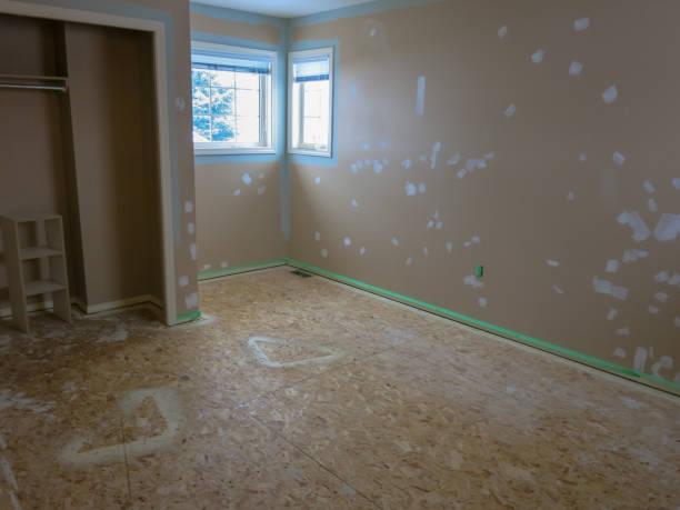 Renovation Painting Hole Filling stock photo