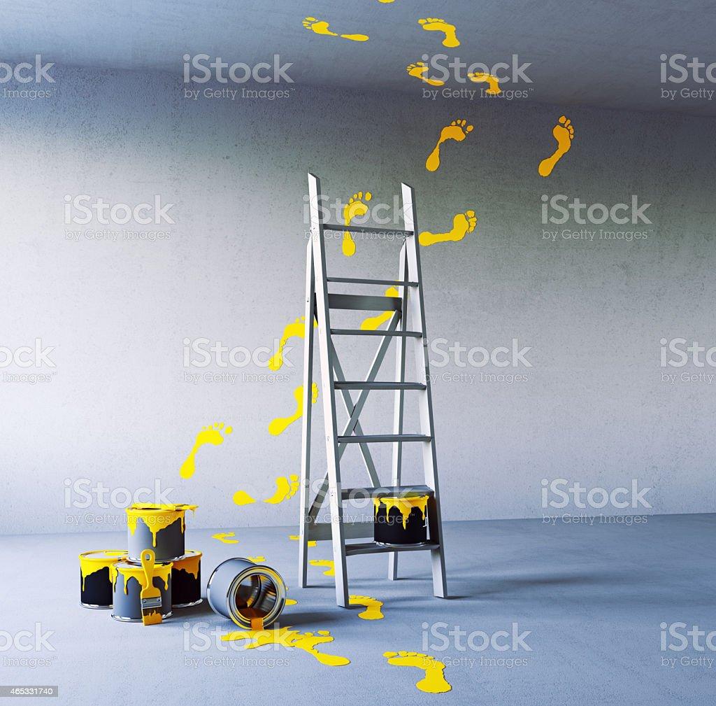 renovation painting stock photo