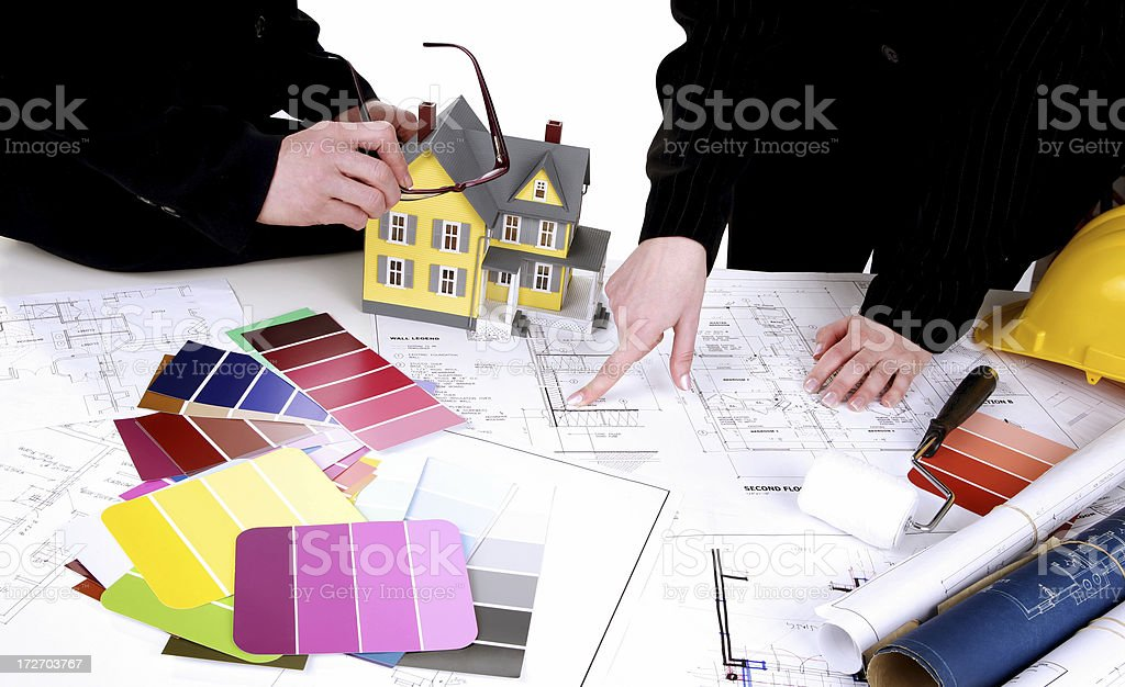 Renovation Planning royalty-free stock photo