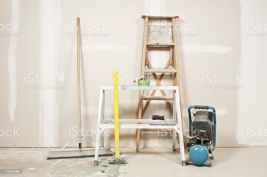 Renovation Tools and Equipment stock photo