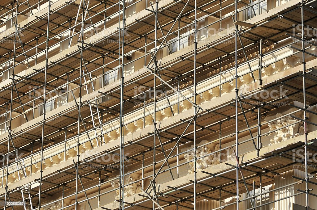Renovation Work On Building royalty-free stock photo