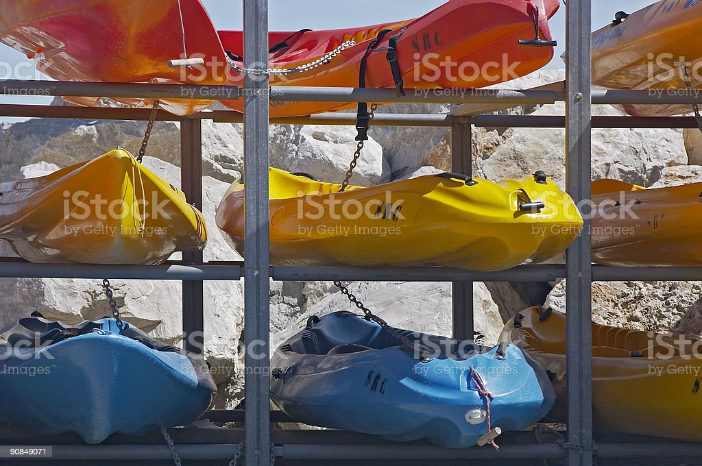 Rent a canoe! royalty-free stock photo