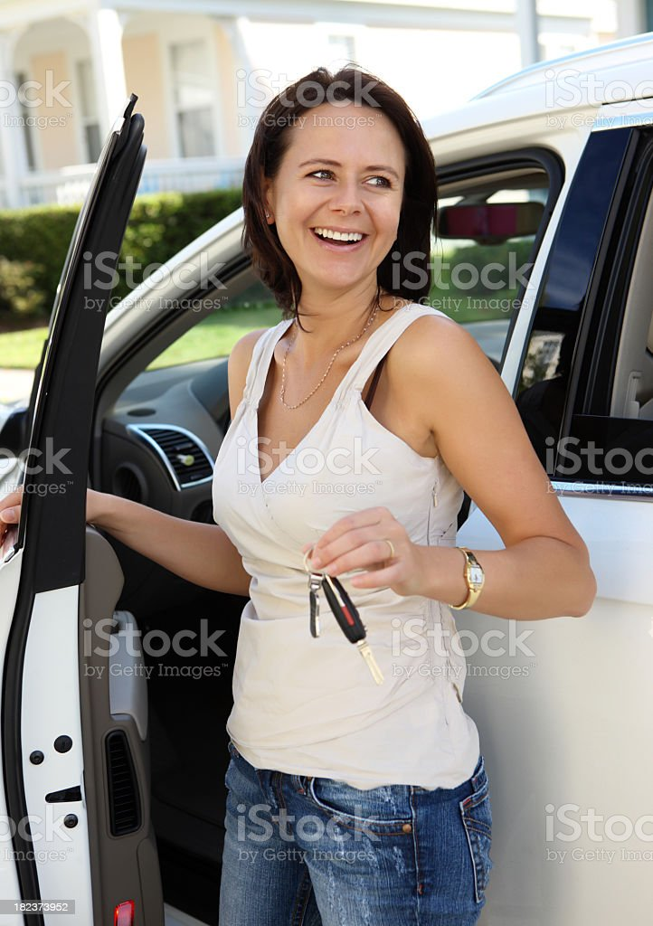 Rent a car royalty-free stock photo