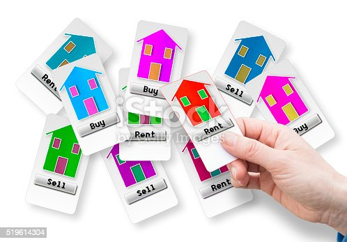 istock Rent a new house concept image 519614304