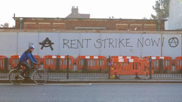Rent Strike. Turnpike Lane. 26 March 2020 stock photo