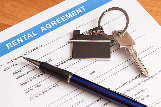rental agreement form - tenant stock photos and pictures