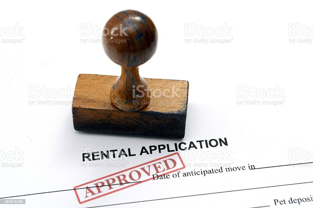Rental application - approved stock photo