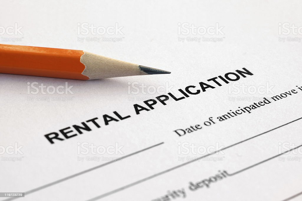 Rental application royalty-free stock photo