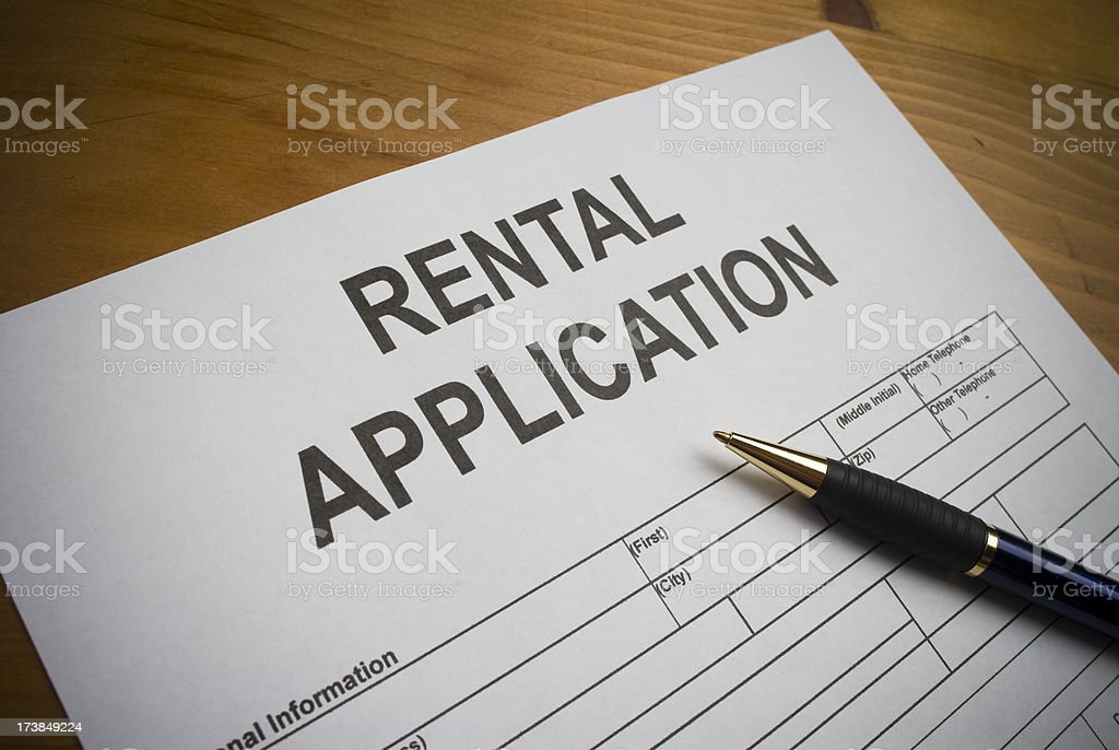 Rental application. royalty-free stock photo