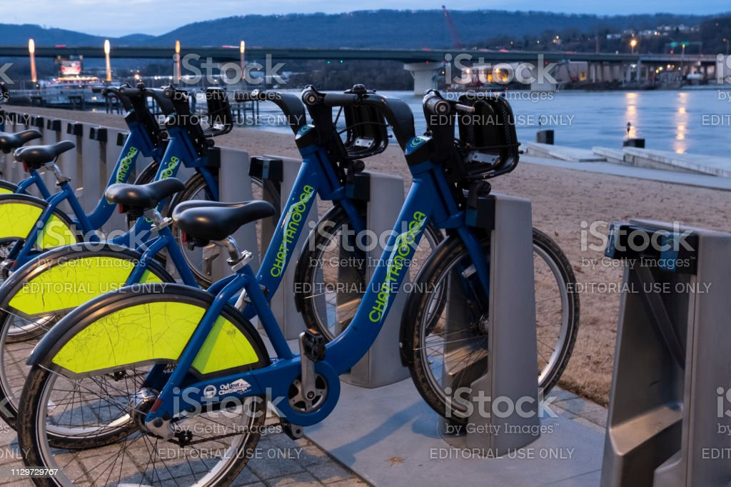 Rental Bicycles in Chattanooga stock photo