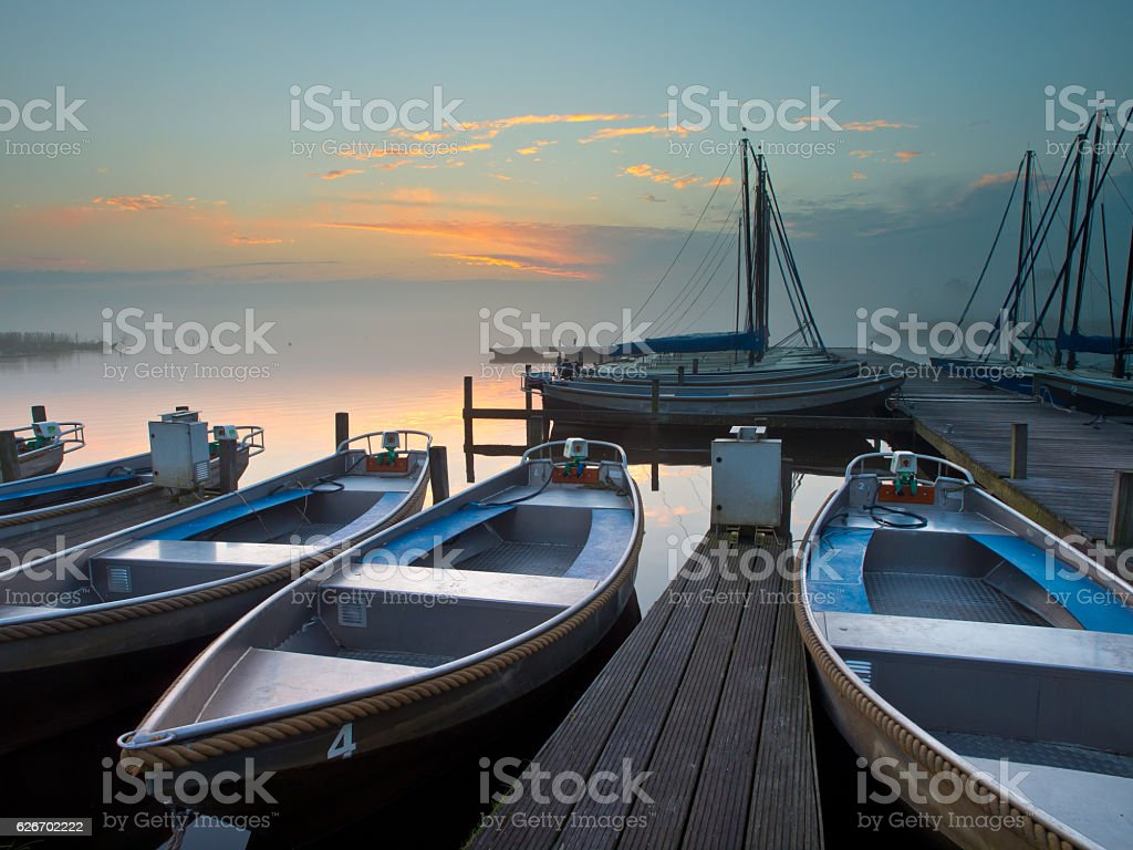 rental boats stock photo