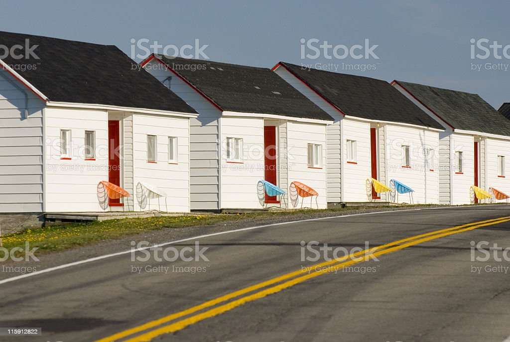 Rental Cottages stock photo