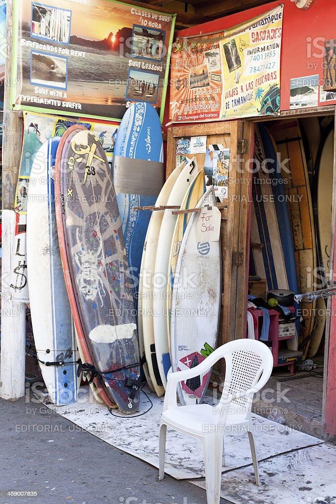 Rental surf boards royalty-free stock photo