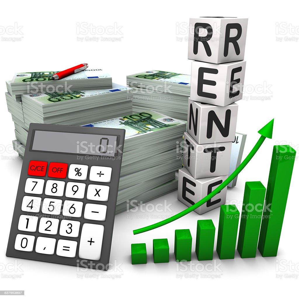 Rente Absicherung stock photo