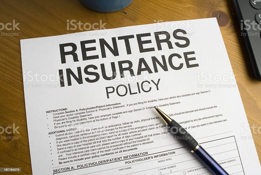 Renters Insurance Policy royalty-free stock photo