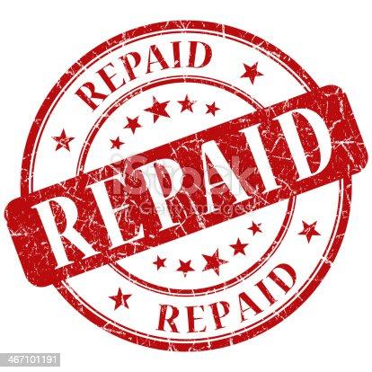 istock repaid red round stamp 467101191