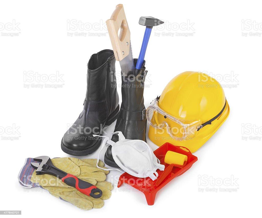 Repair accessories on white stock photo