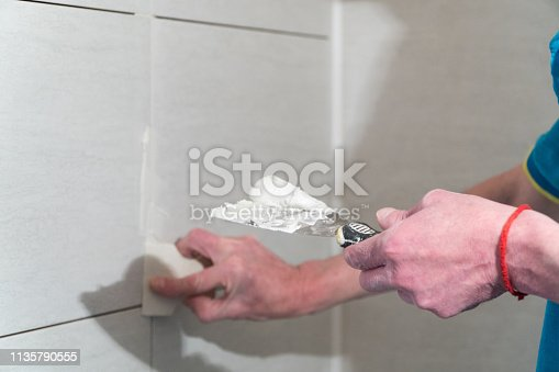 istock Repair and finishing works 1135790555