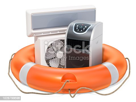 istock Repair and service of air conditioners, concept. 3D rendering isolated on white background 1026799598