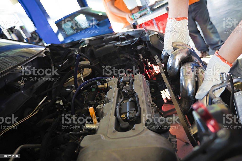 repair customized car royalty-free stock photo