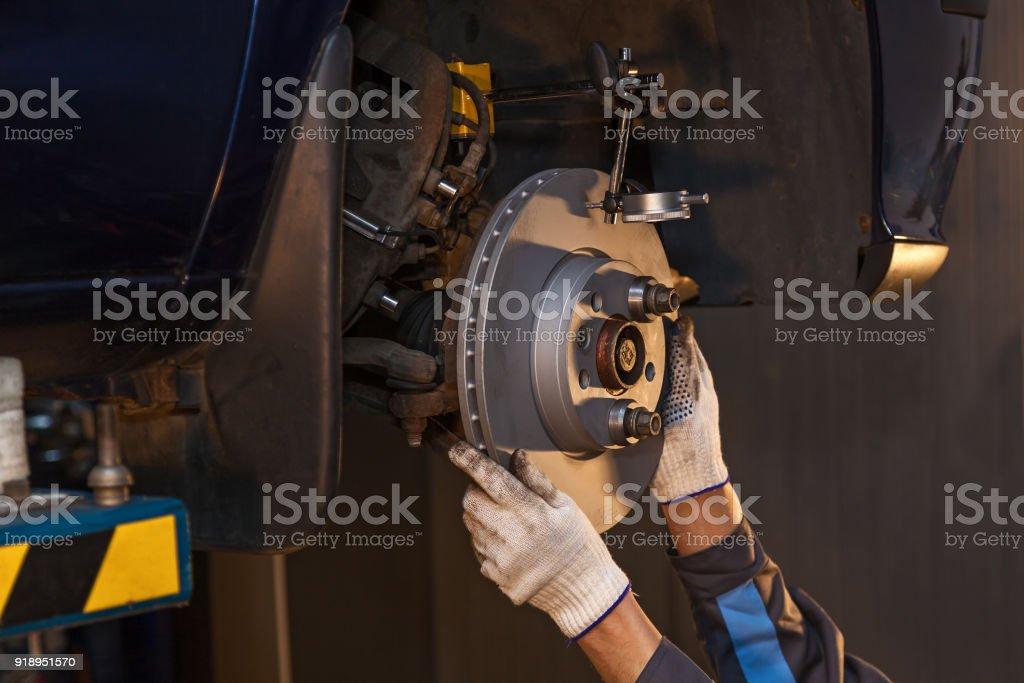 Repair disc brake. stock photo