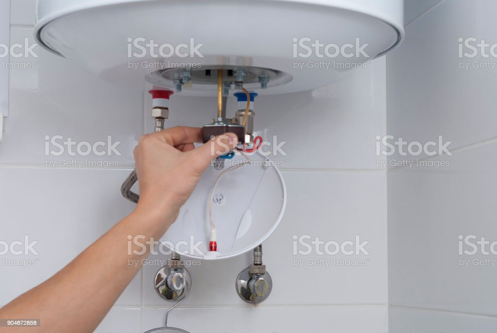 repair electric boiler stock photo